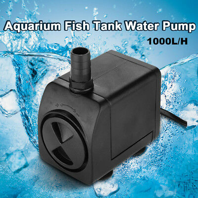 1000L/H Submersible Aqua Aquarium Fish Tank Fountain Pond Marine Water Pump AU