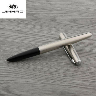 jinhao 911 Stainless steel classic design Silvery Trim 0.38mm Fountain Pen
