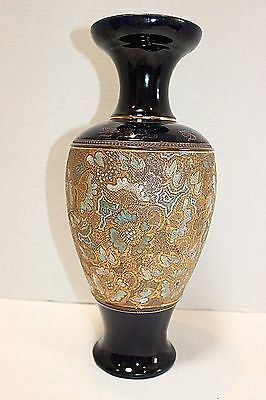 Antique Royal Doulton Stoneware Slaters  Patent England  Blue And Gold
