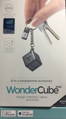WonderCube Plus 8-in-1 Smartphone Accessory, World's Smallest Smartphone Charger