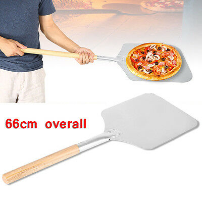 Pizza Baking Stone Set Cooking Plate Serving Tray & Wooden Paddle Peel Shovel