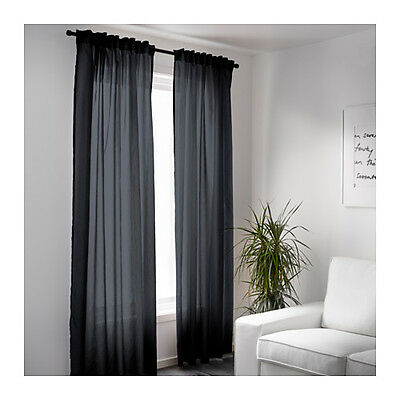 IKEA Pair of Semi Sheer Privacy Curtains See Out But Not In Multiple Colours NEW