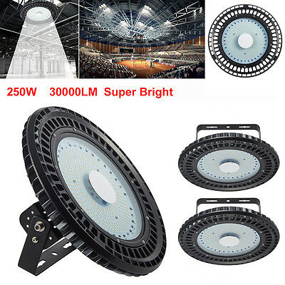 3X250W UFO LED High Bay Light Industrial Factory Warehouse Roof Shed Lamp AC240V