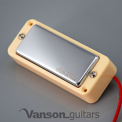 NEW Wilkinson WMHR AlNiCo V Mini Humbucker Pickup, P90, Chrome, Ivory Ring
