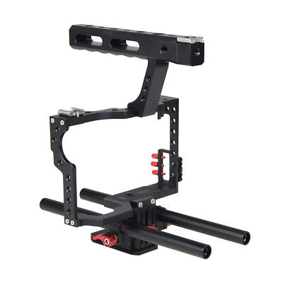 Film Making Camera Video Cage with 15mm Rod System Rig for A7/A7II/A7s/A7r/A7Rii