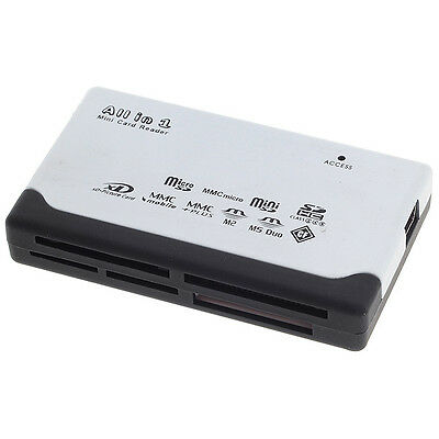 White All-in-one Convenient Memory Mini USB 2.0 Card Reader For Micro SD CF xD