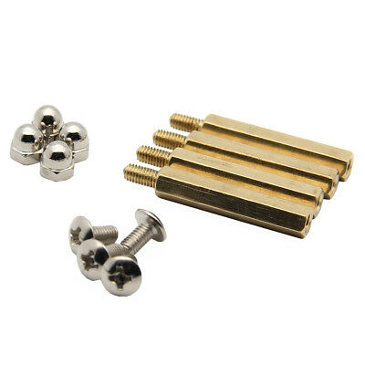 1Set Dark Yellow DIY M3.0 * 25mm Hex Brass Cylinder + Nut Kits for Raspberry Pi
