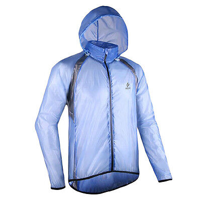Windproof Waterproof Adults Men's Bicycle Cycling Jacket Blue XL Size