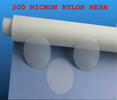 300 Micron Nylon Mesh Filter Woven Mesh Sheet Off-White Polyester Food Grade