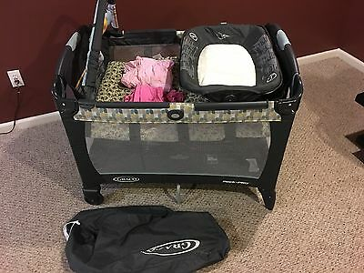Pack N Play Baby Bed Bassinet Diaper Changer Travel Portable Playpen Graco