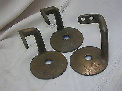 Vintage Set of 3 Matching Hand Rail Brackets Cast Iron Rail Support