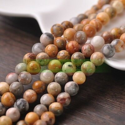 Natural Gemstone Smooth Round Loose Spacer Stone Beads 4mm 6mm 8mm 10mm Making