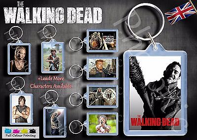 The Walking Dead Keyring Key Fob inspired from DVD 31 to choose from, Negan