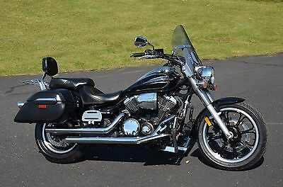 2012 Yamaha V Star  Mint 2012 Raven Black Yamaha V-Star 950 Tourer VXS950 XVS95CTBB Many Upgrades!