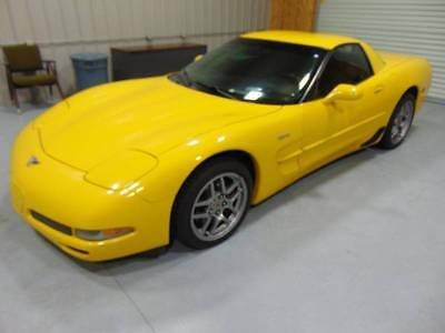 2003 Chevrolet Corvette Z06 2dr Coupe 2003 Chevrolet Corvette Z06 Low Miles 57k Clean Carfax Yellow No Reserve!!!!!