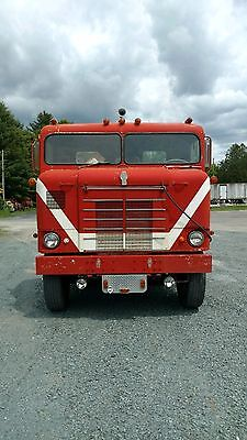 Antique 1953 Kenworth Bull Nose Semi Running