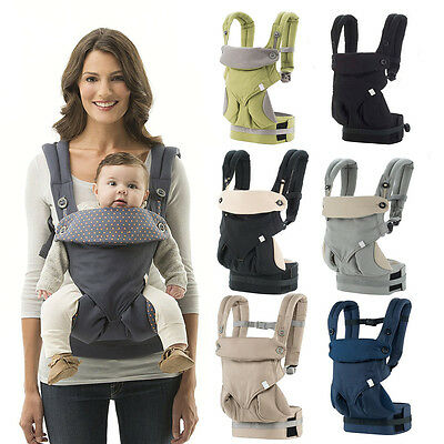 Baby Infant Safety Ergo Carrier 360 Four Position Breathable Baby Lap Strap new