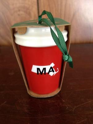 Starbucks 2016 MA Massachusetts State Christmas Holiday Ornament Red Cup