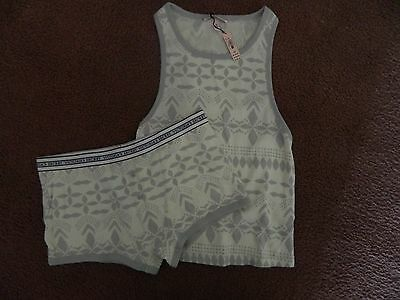Victorias Secret ~ Fireside Tank And Shortie Set ~ Size Medium ~ New With Tags