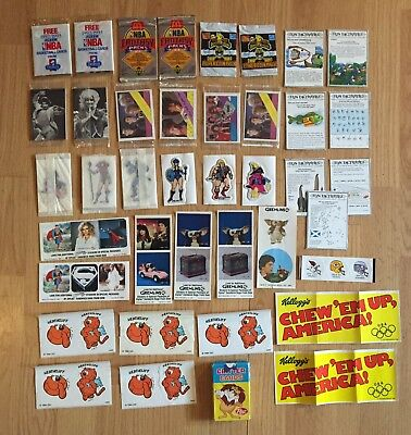 Collection of Vintage Food Insets - Post Critter Cards (1964), Stickers, Cards +
