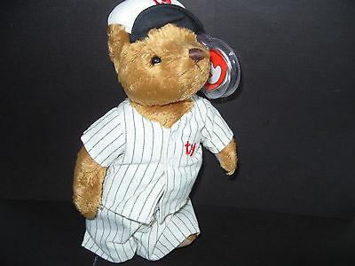 Ty Beanies Bear - Attic Treasures Cooper With Tags