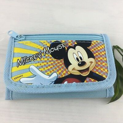 New Kids Boys Disney Mickey Mouse Coin Purse  Tri- Fold Wallet Free Shipping