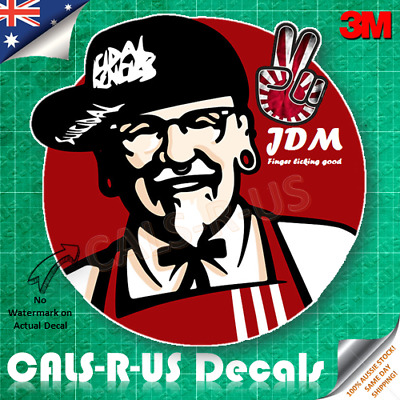 Funny JDM Finger Licking Good Japan Sun Drift Parody 3M Vinyl Decal Car Sticker