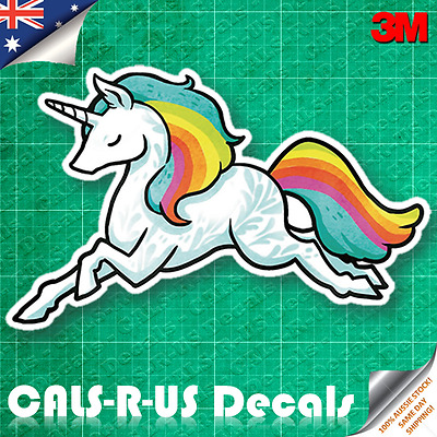JDM Drift Like Unicorn Style Turbo Car Sticker Vinyl Decal. 3M Film 100mm