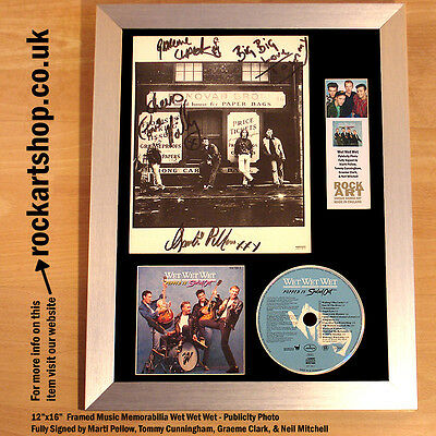 WET WET WET Popped In Souled Out *FULLY SIGNED BY 4* MARTI PELLOW Autographed