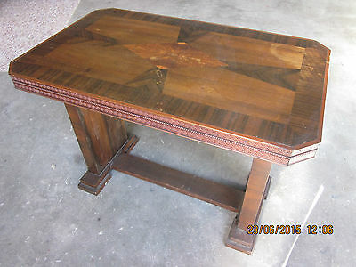 -Vintage Inlaid Lamp/side Table - Puo Moss Vale Southern Highlands - Gc~