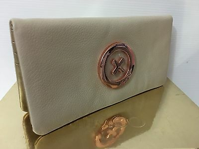 Mimco Leather Supernatural WALLET CLUCTH PURSE Vanilla Rosegold BNWT