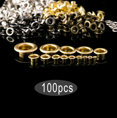 100Pcs eyelet Scrapbooking Embelishment Garment Clothe Buckle Apparel DIY Metal