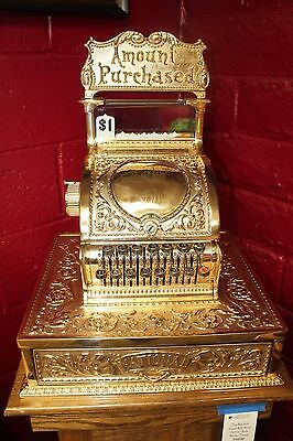 1900s Rare National Cash Register mod 52 Bronze BARBER SHOP Restored Renaissance