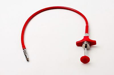 """Unbranded 13.50"""" Red Locking Shutter Release Cable - Germany (#2445)"""