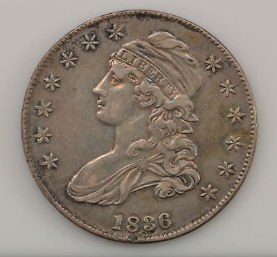 1836 Capped Bust, Lettered Edge Silver Half Dollar *Q28