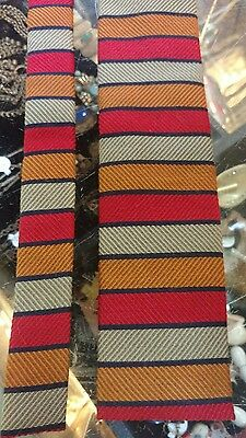 1960s Rooster striped square end Necktie