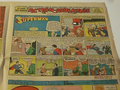 Superman  Sunday Daily Comic Strip 1940 St.Louis Post Dispatch