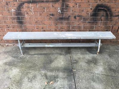 Vintage industrial 1950s Hungarian  bench seat #grey