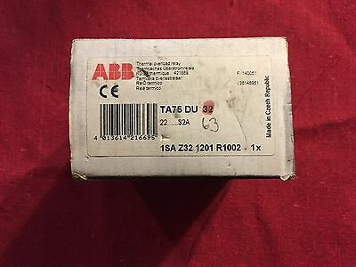 ABB Thermal overload relay TA75 DU 32 1SA Z32 1201 R1002 1x New surplus stock