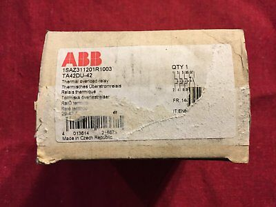 TA42DU42 ABB THERMAL OVERLOAD RELAY 1SAZ311201R1003 New surplus stock