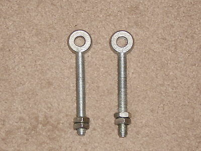 Wyre Direct 2 Adjustable Gate Hinges Eye Bolts 22mm X 200mm Long 8 Pair M19 Galvanised