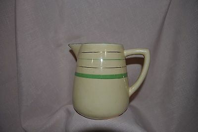 Vintage Clarice Cliff Jug Cream Green And Gold