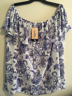 *new* Plus 22 * Avella Off Shoulder Top / Blouse * Nwt $29
