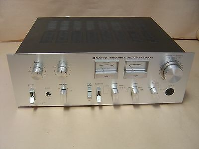 Sanyo Amplifier DCA 411 with 2 Phono Turntable Inputs. 45 Watts per Channel