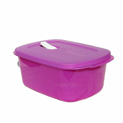 Tupperware Crystalwave Ezywave Rectangle Vent Serve Lilac 1.7 L Purple Microwave