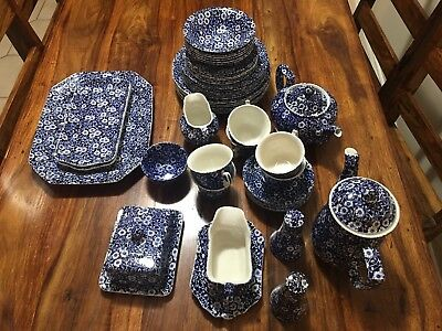 Staffordshire Burleigh Calico Dinner Set