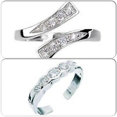 20 SETS OF 2 STERLING SILVER TWIST TOE AND 5 cz CUBIC ZERCONIA TOE