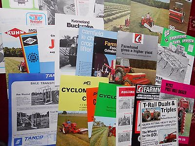 Bundle Of Farm Machinery Brochures 1970S  1980S