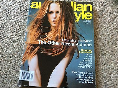 rare AUSTRALIAN STYLE MAGAZINE issue 58 2001 NICOLE KIDMAN Peter Jackson POOLS