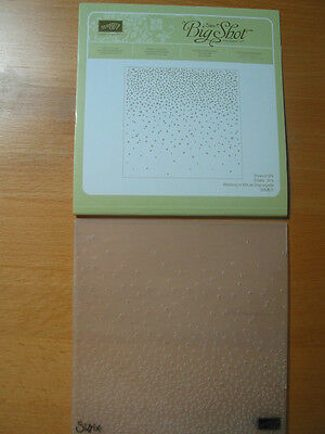 "scrapbooking Prägefolder Embossen Big Shot ""Leise rieselt"" stampin up 16 x 16"